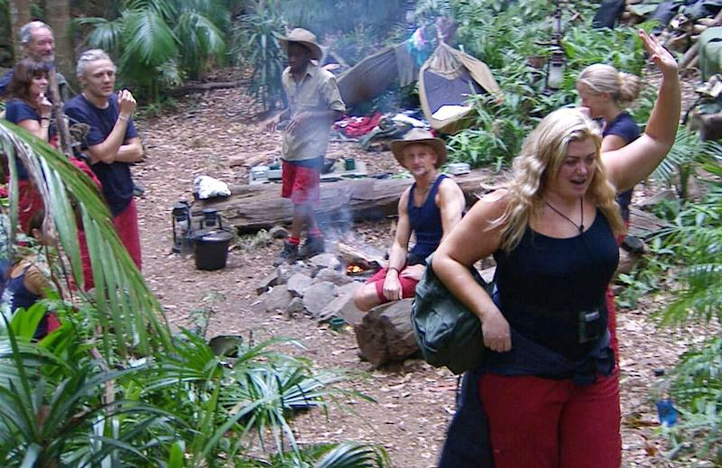 """Gemma lasted just three days in the jungle, before telling her campmates she """"loved herself too much"""" to put herself through the ordeal of being in the jungle."""