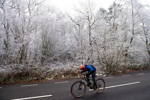 Chilly weather for cycling in Birmingham
