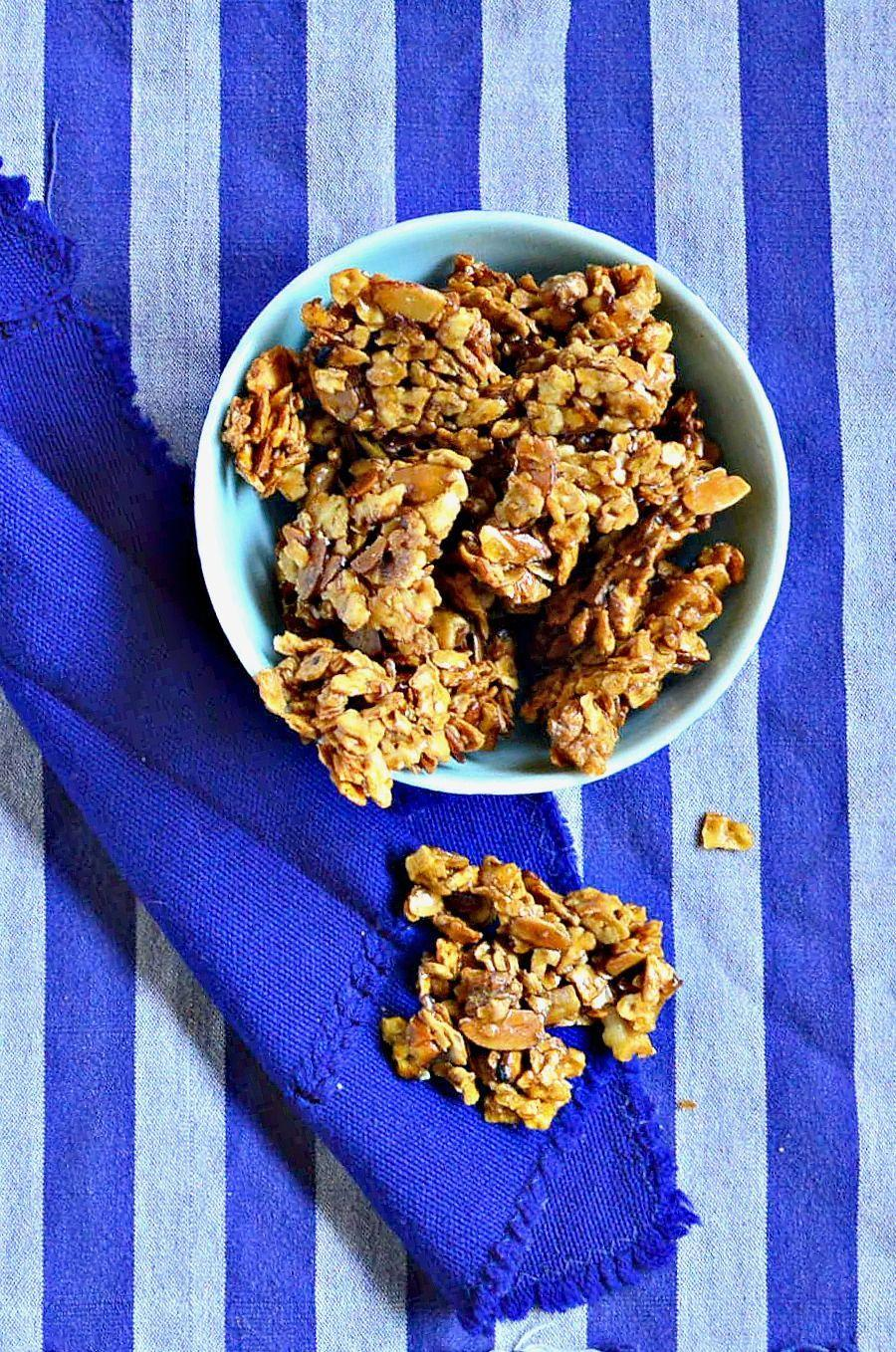 """<p>Whether you eat it for breakfast or as a late-afternoon snack, these crumbly bites with honey, sugar and salt will curb your cravings. </p><p><em><a href=""""http://www.thisishowicook.com/2016/04/honey-crunch-matzoh-brittle-and-18.html"""" rel=""""nofollow noopener"""" target=""""_blank"""" data-ylk=""""slk:Get the recipe from This is How I Cook »"""" class=""""link rapid-noclick-resp"""">Get the recipe from This is How I Cook »</a></em></p>"""