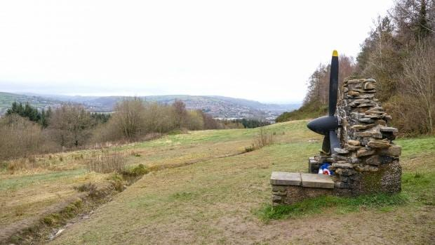 The view from Caerphilly Mountain in Wales.