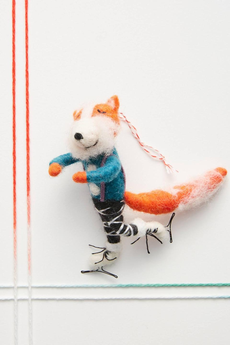 """<p>Incorporate whimsy into your tree with the <a href=""""https://www.popsugar.com/buy/Figure-Skating-Fox-Ornament-490610?p_name=Figure%20Skating%20Fox%20Ornament&retailer=anthropologie.com&pid=490610&price=18&evar1=casa%3Aus&evar9=46615300&evar98=https%3A%2F%2Fwww.popsugar.com%2Fhome%2Fphoto-gallery%2F46615300%2Fimage%2F46615530%2FFigure-Skating-Fox-Ornament&list1=shopping%2Canthropologie%2Choliday%2Cchristmas%2Cchristmas%20decorations%2Choliday%20decor%2Chome%20shopping&prop13=mobile&pdata=1"""" rel=""""nofollow noopener"""" class=""""link rapid-noclick-resp"""" target=""""_blank"""" data-ylk=""""slk:Figure Skating Fox Ornament"""">Figure Skating Fox Ornament</a> ($18).</p>"""