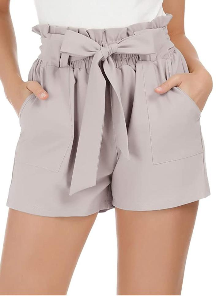 """""""I've been living in shorts and dresses lately, but I've wanted a stretchier alternative to my denim shorts for lounging around in. I was drawn to these because they're size-friendly (available in sizes XS to 2X) and designed to flatter. Plus, they come in a <i>ton</i> of colors, so if I like them, I'll be back for another color."""" <strong>- Nims<br><br></strong><a href=""""https://amzn.to/2BtxCml"""" rel=""""nofollow noopener"""" target=""""_blank"""" data-ylk=""""slk:Find them on sale for $22"""" class=""""link rapid-noclick-resp"""">Find them on sale for $22</a>. Prices might vary depending on the size and color."""