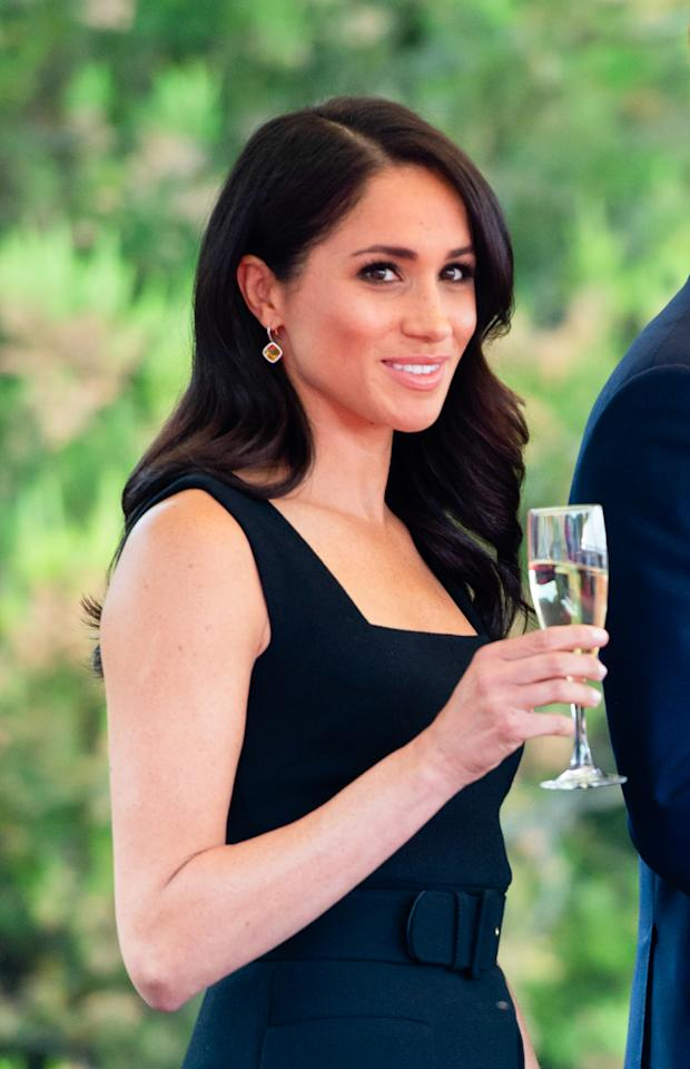 <p>Meghan topped off her look with 14 ct citrine and diamond earrings ($3,475 CAD) from her favourite jeweller, Birks.<br /><strong>Total cost of second look:$10,508.81 CAD</strong> </p>