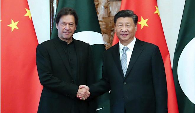 Chinese President Xi Jinping, pictured with Pakistani Prime Minister Imran Khan in Beijing in October, was set to visit Pakistan earlier this year. Photo: Xinhua