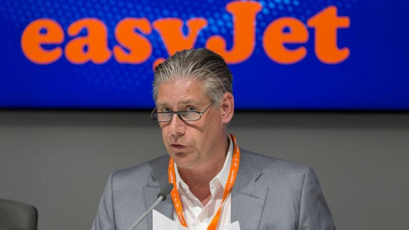 EasyJet Chief Executive Johan Lundgren defended the dividend payments to shareholders (pictured in 2018)