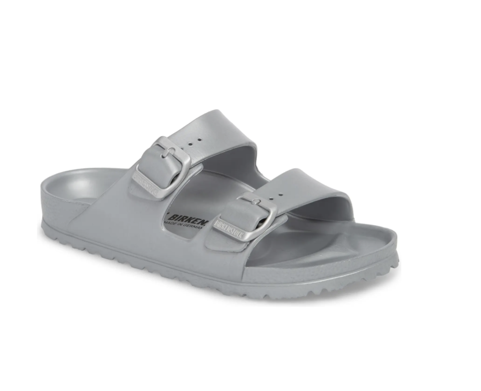 Essentials Arizona Waterproof Slide Sandal - Silver - Nordstrom, $45