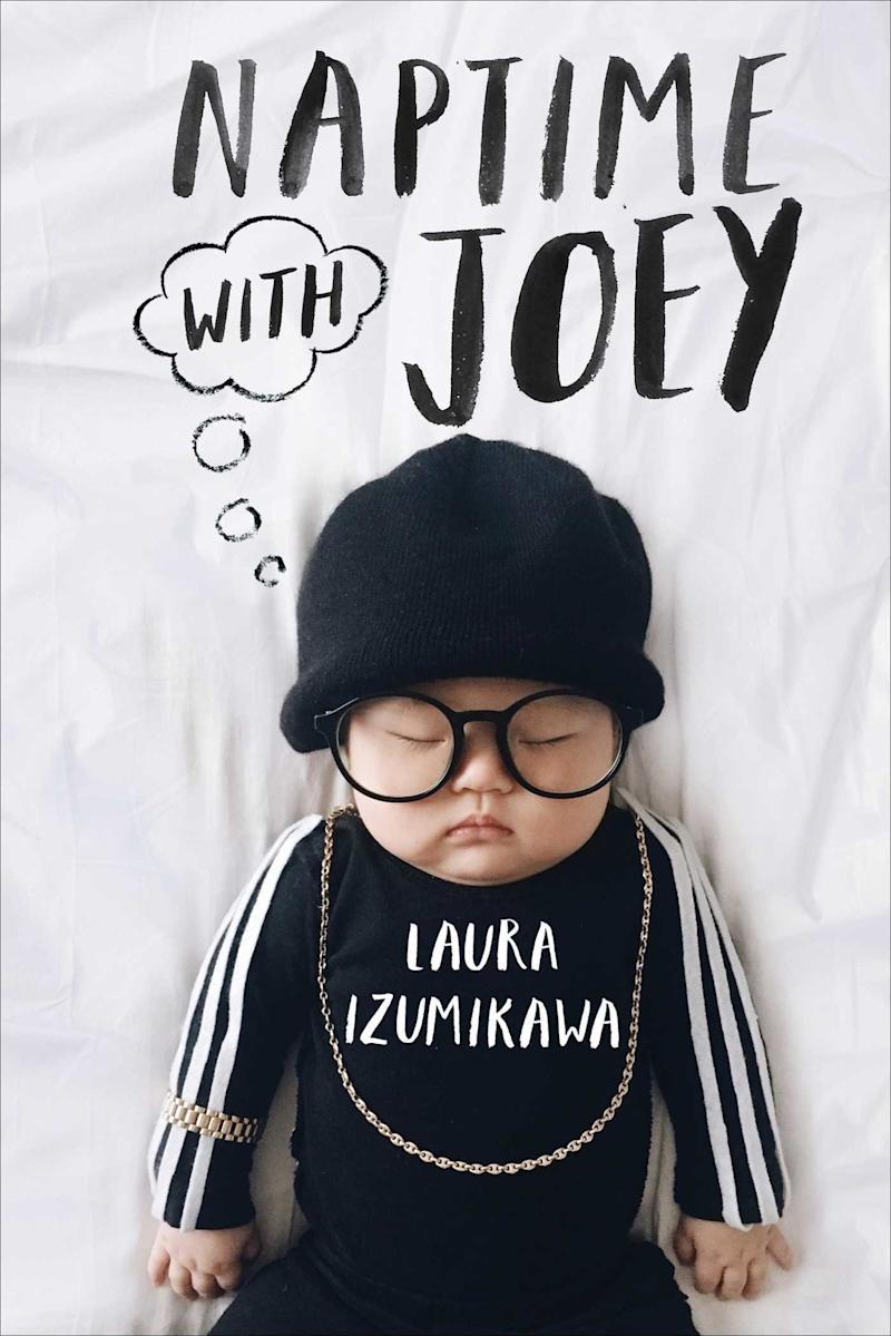 <i>Naptime With Joey</i>is a selection of adorabledress-up photos fromIzumikawa Instagram account. (Laura Izumikawa/Gallery Books)
