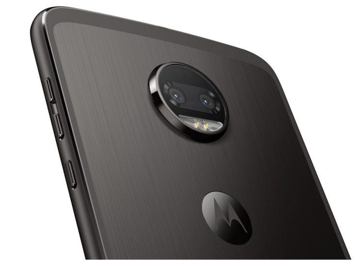 The Moto Z2 Force's dual-lens camera.