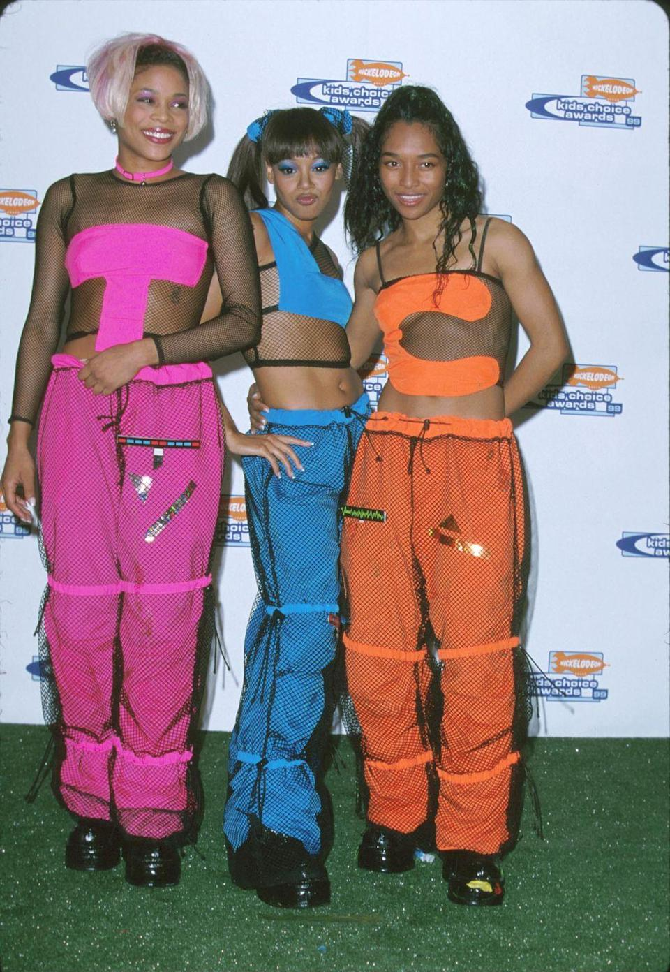 <p>Made of nylon, a material used for parachutes (hence the name), these trousers often can in loud neon colors, which made the wrong kind of statement. </p>