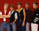 """<p>Take That is also probably too big to be on this list and they also have never really stopped recording excellent pop jams, but 1995's album <em>Nobody Else</em> and the track """"Back For Good"""" are Classic boy band. They are the ur-boy band. Member Robbie Williams went off to major solo success, and had a particularly memorable episode of MTV <em>Cribs.</em></p>"""