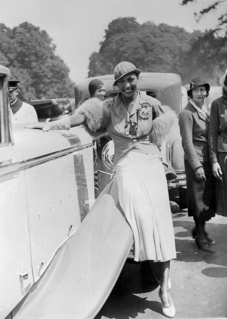 <p>Baker transitioned into films and earned her first major role in 1927's <em>Siren of the Tropics</em>. It was a box office hit and she was awarded with a starring role in 1934 in <em>Zouzou</em>, making her one of the first Black actresses to land a leading role in Hollywood. She followed it up with another hit the next year, <em>Princesse Tam-Tam</em>.</p>