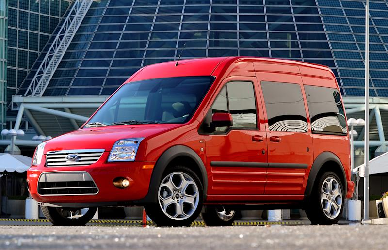 This Nov. 2010 picture made available by the Ford Motor Co. shows the 2011 Ford Transit Connect at the 2010 Los Angeles Auto Show. (AP Photo/Ford Motor Co., Sam VarnHagen)
