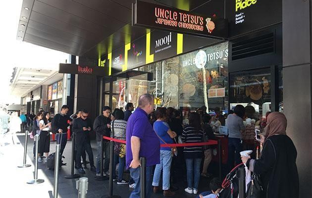 It's non stop queues outside Uncle Tetsu. Photo: Yahoo7 Be