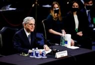 FILE PHOTO: Senate Judiciary Committee holds hearing on Garland nomination to be U.S. Attorney General on Capitol Hill in Washington