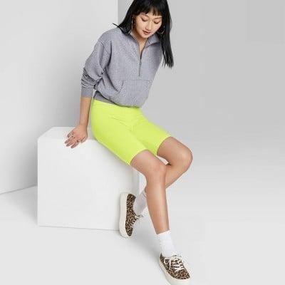 <p>You can't beat the price of these <span>Wild Fable High-Rise Bike Shorts</span> ($7), and they come in eight colors from lime to olive.</p>