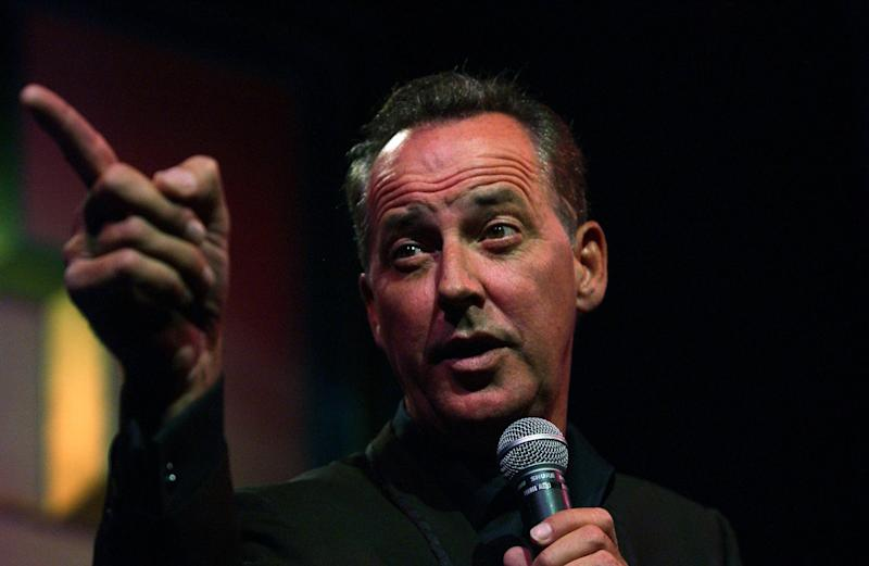 Michael Barrymore at Wyndhams Theatre. (Photo by robbie jack/Corbis via Getty Images)