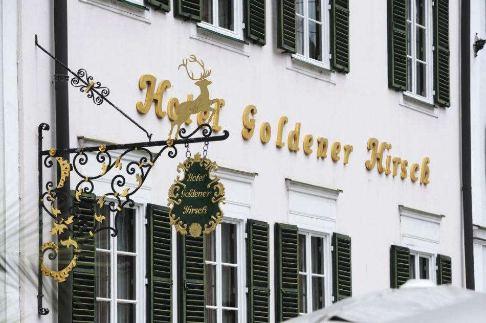 The well-known luxury hotel Goldener Hirsch.