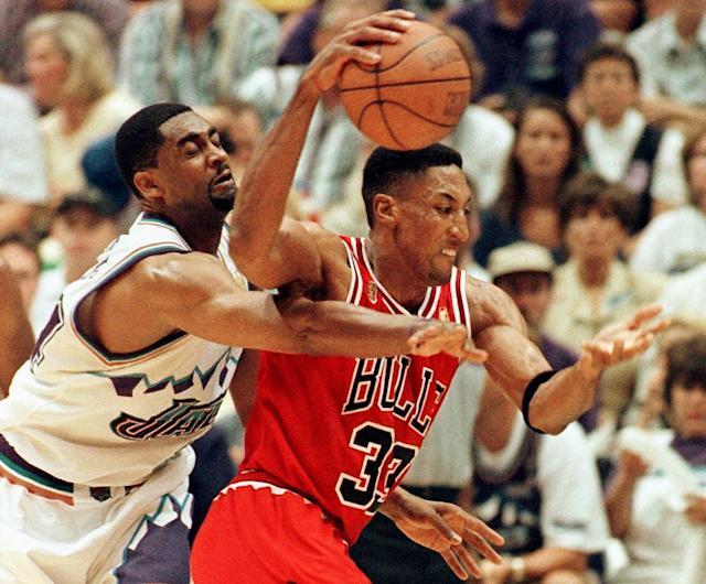 Jerry Krause drafted Scottie Pippen in 1987. (Photo by PAUL BUCK/AFP via Getty Images)