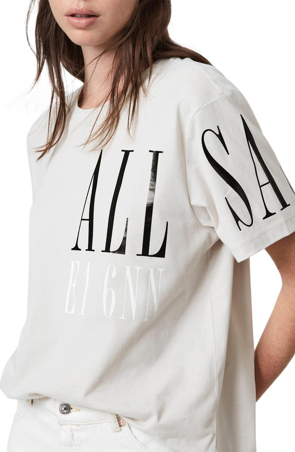 <p><span>AllSaints Separo Graphic Tee</span> ($49, originally $65)</p>