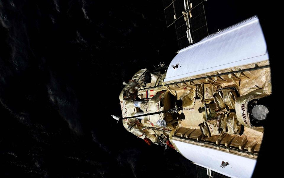 The Nauka docking with the ISS - Oleg Novitsky/ Russian Space Agency Roscosmos/AFP via Getty Images