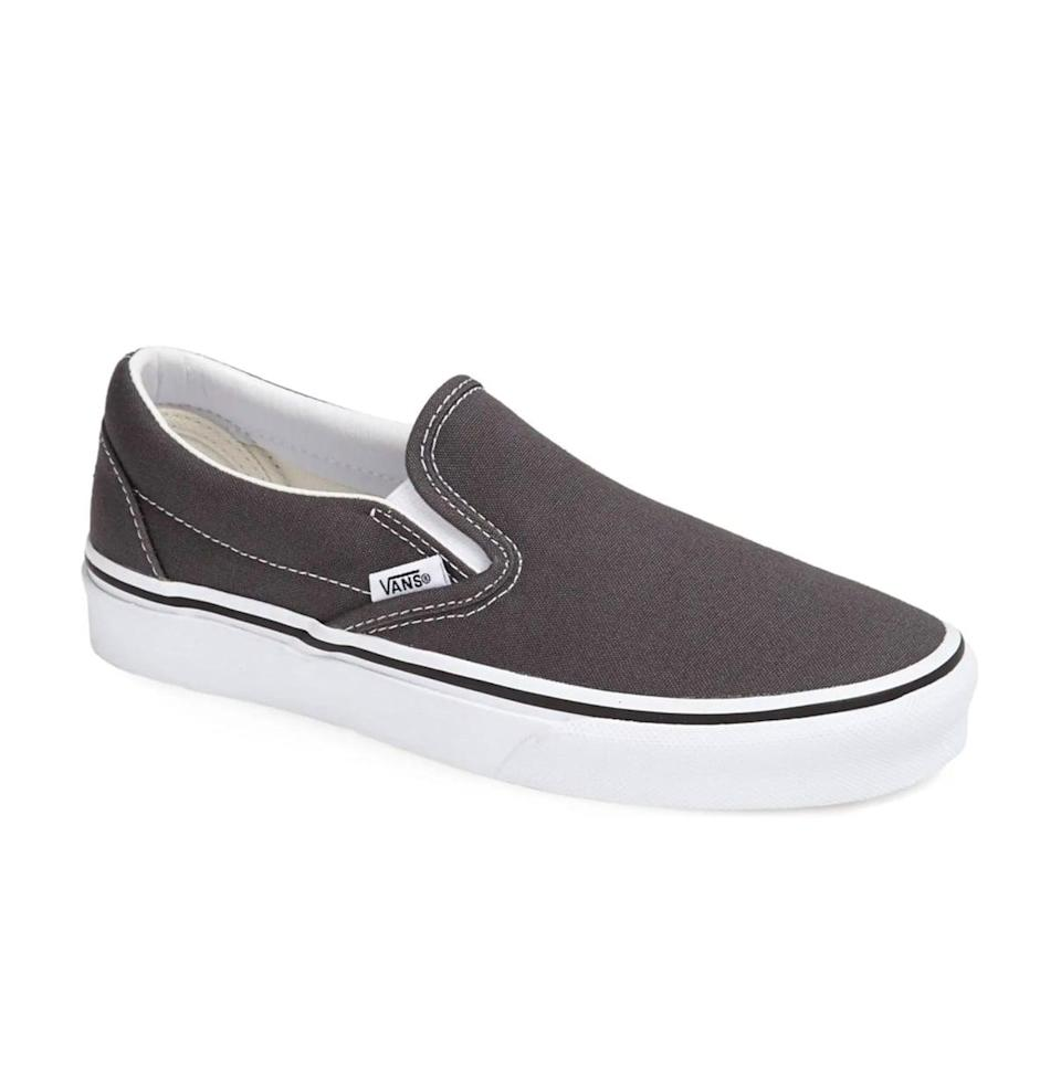 <p>Miss the comfort and convenience of sandals? These <span>Vans Classic Slip-Ons</span> ($50) offer the same vibes while remaining fall-friendly.</p>
