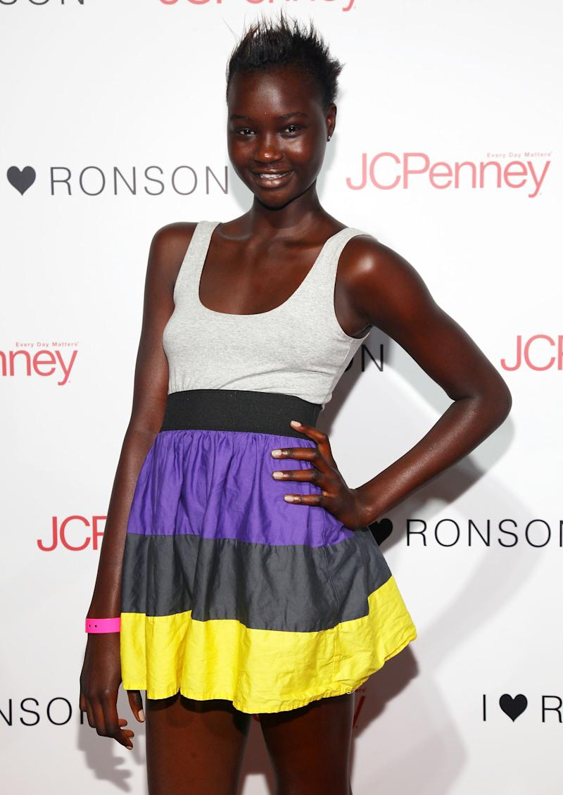 Sudanese model Ataui Deng is pictured at a fashion event in New York City on August 20, 2009