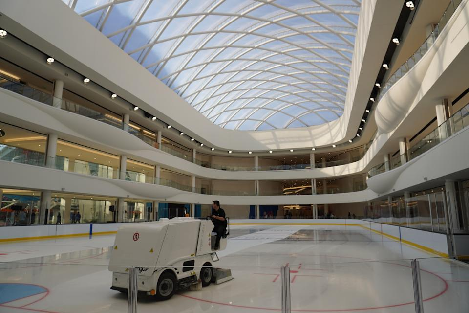 The Rink at American Dream is an NHL-regulation sized ice rink. (Photo: Stephanie Asymkos/Yahoo Finance)