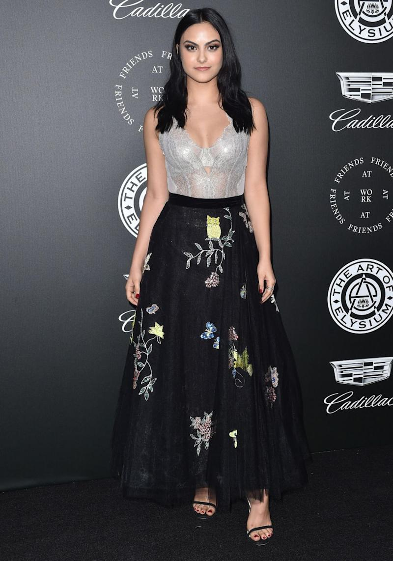 Camila Mendes had an awkward wardrobe malfunction this week, but the actress handled it like an absolute pro. Source: Getty