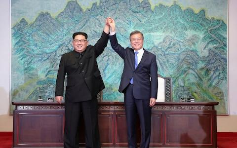 <span>The mood has soured between North and South Korea since a successful summit between Kim Jong-un and Moon Jae-in, the South's president, in April</span> <span>Credit: AP/AP </span>