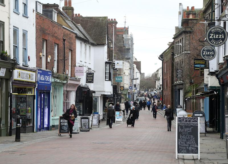 The High Street in Canterbury, Kent