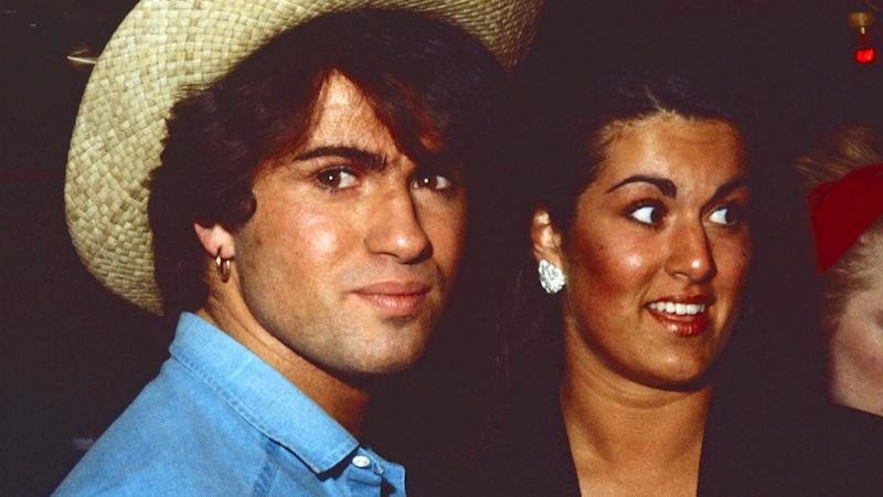 George Michael with sister Melanie Panayiotou in the 1980s
