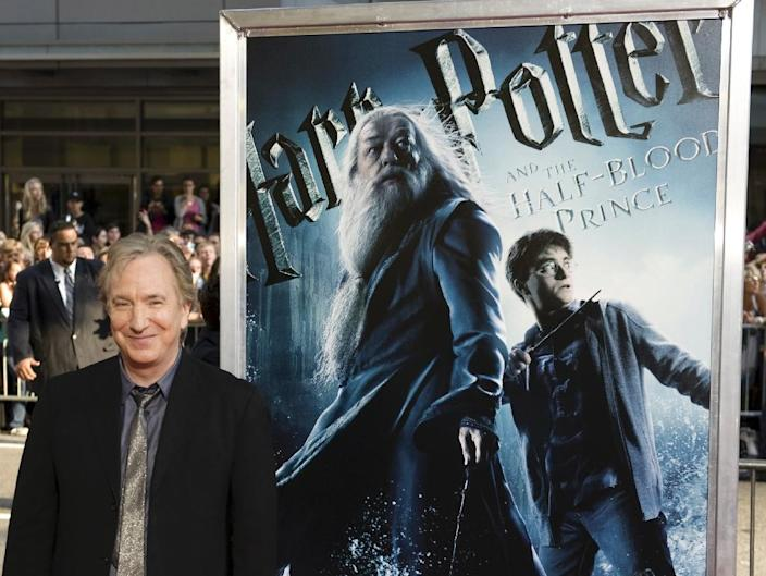 """Alan Rickman played Severus Snape in all eight """"Harry Potter"""" films from 2001 to 2011 (AFP Photo/Don Emmert)"""