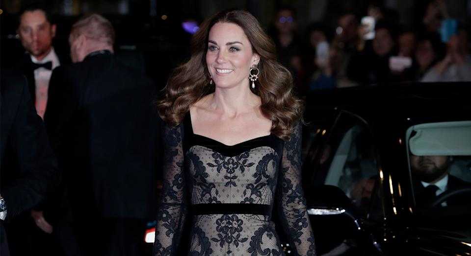 The Duchess of Cambridge attended the Royal Variety Performance on Monday evening. [Photo: Getty]