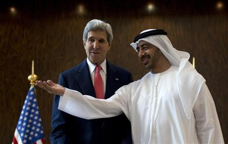 U.S. Secretary of State Kerry meets UAE Foreign Minister Abdullah bin Zayed Al Nahyan in Abu Dhabi