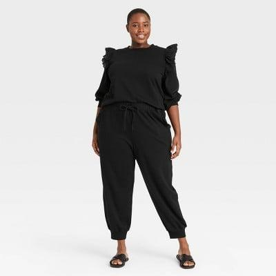 <p>We love the cute details on the <span>Who What Wear Regular Fit Ruffle Detail Jogger Sweatpants</span> ($30) and <span>Puff Sleeve Sweatshirt</span> ($30).</p>