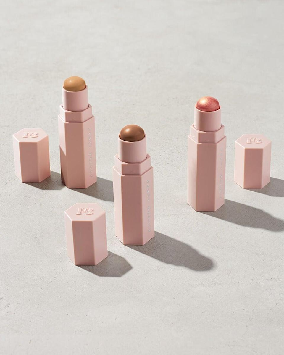 "<br><br><strong>Fenty Beauty</strong> Custom Match Stix Trio ($75 Value), $, available at <a href=""https://go.skimresources.com/?id=30283X879131&url=https%3A%2F%2Ffave.co%2F31bcH1z"" rel=""nofollow noopener"" target=""_blank"" data-ylk=""slk:Fenty Beauty"" class=""link rapid-noclick-resp"">Fenty Beauty</a>"