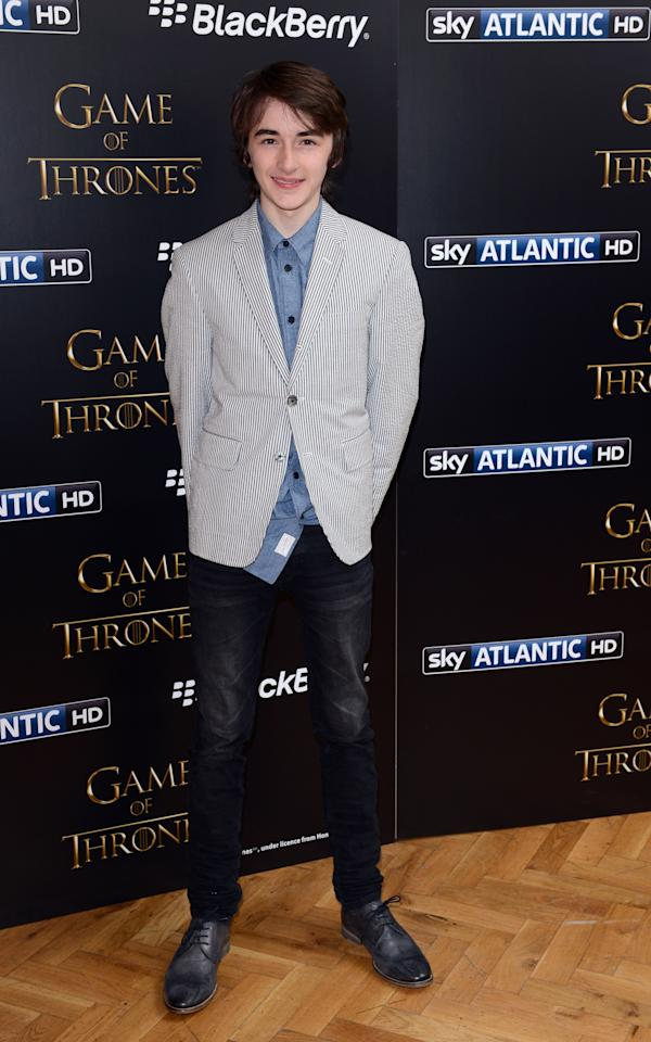 LONDON, UNITED KINGDOM - MARCH 26: Isaac Hempstead Wright attends the season launch of 'Game of Thrones' at One Marylebone on March 26, 2013 in London, England. (Photo by Karwai Tang/Getty Images)