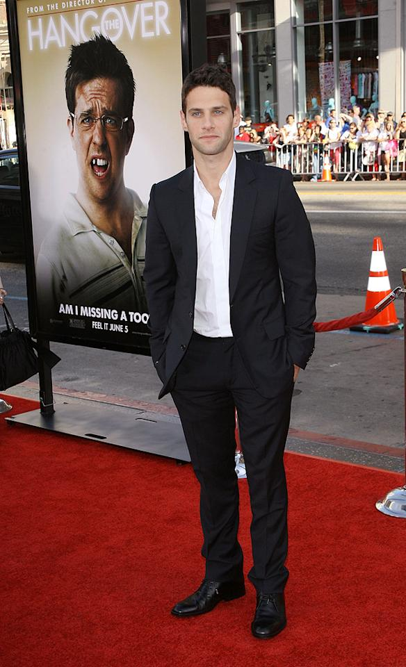 """<a href=""""http://movies.yahoo.com/movie/contributor/1808458132"""">Justin Bartha</a> at the Los Angeles premiere of <a href=""""http://movies.yahoo.com/movie/1810044687/info"""">The Hangover</a> - 06/02/2009"""
