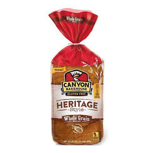 """<p><strong>Canyon Bakehouse</strong></p><p>Amazon</p><p><strong>$39.57</strong></p><p><a href=""""http://www.amazon.com/dp/B0735JCYWT/?tag=syn-yahoo-20&ascsubtag=%5Bartid%7C1782.g.27629746%5Bsrc%7Cyahoo-us"""" rel=""""nofollow noopener"""" target=""""_blank"""" data-ylk=""""slk:BUY NOW"""" class=""""link rapid-noclick-resp"""">BUY NOW</a></p><p>These slices are moist, but not gummy, and have the same bounce that glutinous bread has. There are seeds throughout which really adds a nice texture. The size of the slices is a bite bigger than the other loaves, too.<br></p>"""