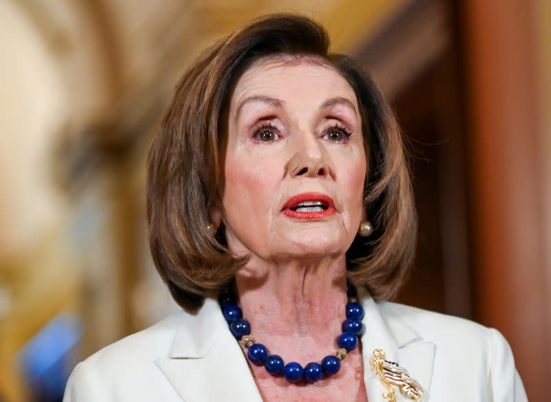 House Speaker Pelosi speaks about Trump impeachment inquiry on Capitol Hill in Washington