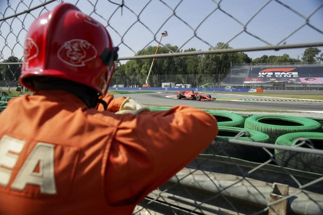 Ferrari struggled again against a backdrop of empty stands at their home grand prix