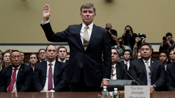 PHOTO: Acting Director of National Intelligence Joseph Maguire is sworn in to testify before a House Intelligence Committee on Capitol Hill in Washington, D.C., Sept. 26, 2019. (Leah Millis/Reuters)