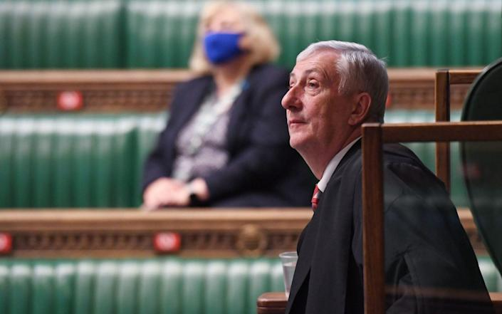 Speaker of the House Sir Lindsay Hoyle during Prime Minister's Questions at the House of Commons - PA