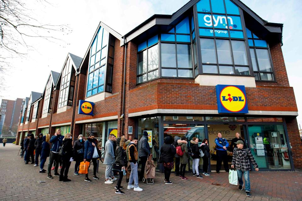 <p>Lidl GB will refund over £100m business rates relief received due to the pandemic </p> (AFP via Getty Images)