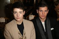 PARIS, FRANCE - JANUARY 21: Harry Brant and Peter Brant Jr attend the Giambattista Valli Spring/Summer 2013 Haute-Couture show as part of Paris Fashion Week at on January 21, 2013 in Paris, France. (Photo by Michel Dufour/WireImage)