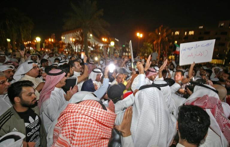 Kuwaiti protesters are calling for speaker of parliament Marzouq al-Ghanim to resign