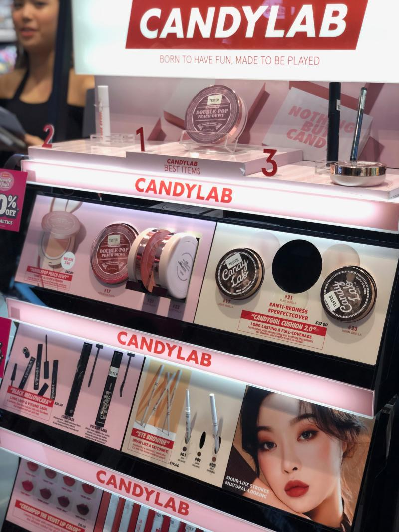 Known for their playful packaging and bold colours, Korean brand CANDY LAB is fun, fearless and unapologetically expressive. (PHOTO: Sheila Chiang/ Yahoo Lifestyle Singapore)