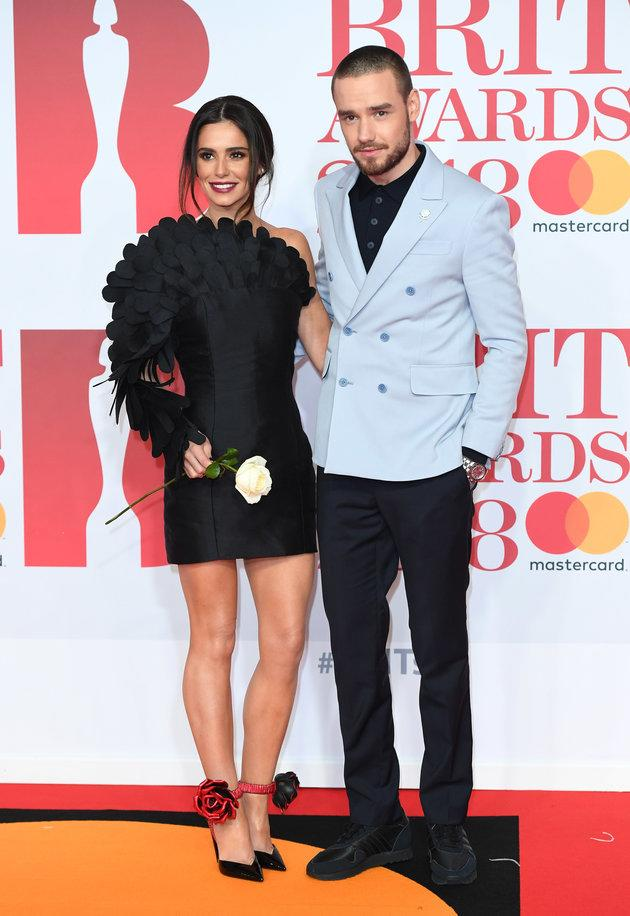 Cheryl and Liam at the Brit Awards earlier this year