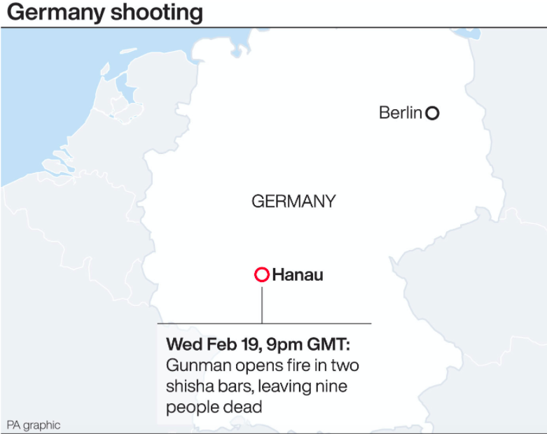 The location of the shooting in Germany. (PA)