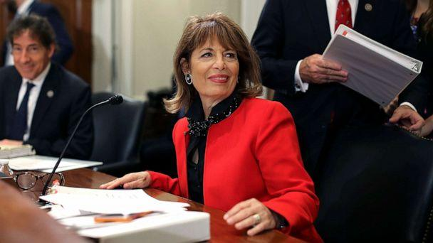 PHOTO: Rep. Jackie Speier joins members of the House Administration Committee during a hearing on preventing sexual harassment in Congress in the Longworth House Office Building on Capitol Hill December 7, 2017 in Washington, DC. (Chip Somodevilla/Getty Images)